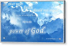 Faith In God's Power Acrylic Print