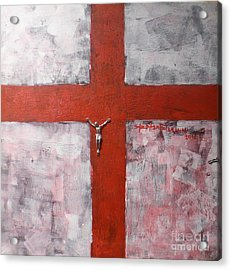 Faith In The Cross Acrylic Print by Stephen Folaranmi