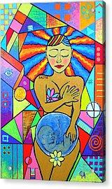 Faith, She Carries The World On Her Hips Acrylic Print