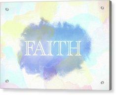 Faith Watercolor Acrylic Print