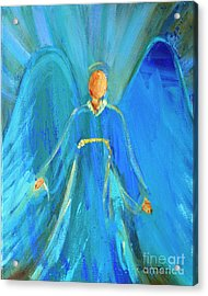 Faithful Angel By Robin Maria Pedrero  Acrylic Print by Robin Maria Pedrero