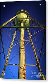 Acrylic Print featuring the photograph Faithful Mary Leila Cotton Mill Water Tower Art by Reid Callaway