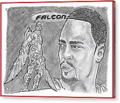 Falcon Acrylic Print by Chris DelVecchio