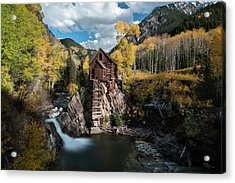 Fall At Crystal Mill Acrylic Print