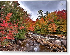 Acrylic Print featuring the photograph Fall At Indian Rapids by David Patterson