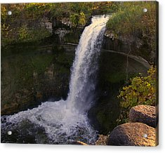 Fall At Minnehaha Falls Acrylic Print by Tom Reynen