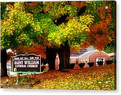 Fall At Saint William Catholic Church In Murphy Nc Acrylic Print