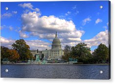 Fall At The Capital Building Acrylic Print