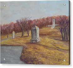 Fall At The Peace Light Memorial Gettysburg Acrylic Print by Joann Renner
