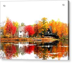 Fall At The Pond Acrylic Print