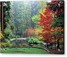 Fall At The Upper Duck Pond Acrylic Print by Jim Nelson