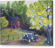 Fall Barn  Acrylic Print