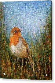 Fall Bird Acrylic Print by Susan Jenkins