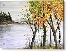 Fall Blows In Acrylic Print