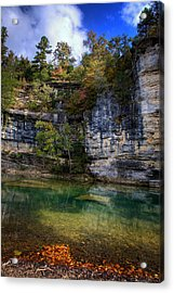 Fall Bluff At Ozark Campground Acrylic Print