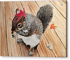 Fall Bonnet Acrylic Print