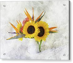 Acrylic Print featuring the digital art Fall Bouquet by Sue Collura