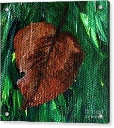 Fall Brown Leaf Acrylic Print by Janelle Dey