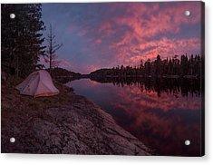 Fall Camping // Bwca, Minnesota  Acrylic Print