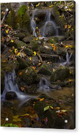 Acrylic Print featuring the photograph Fall Cascades by Ellen Heaverlo