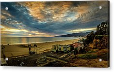 Fall Clouds Over The Bay Acrylic Print