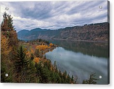 Fall Color At Ruthton Point In Hood River Oregon Acrylic Print