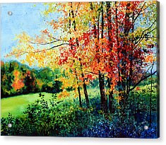 Fall Color Acrylic Print by Hanne Lore Koehler