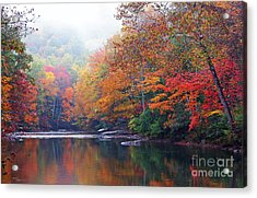 Fall Color Williams River Mirror Image Acrylic Print