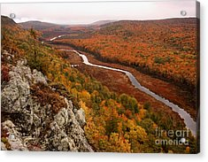 Fall Colors - Lake Of The Clouds Acrylic Print