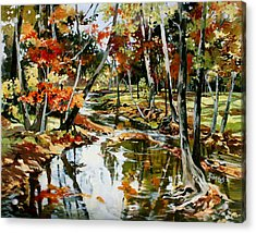 Fall Colors 3 Acrylic Print by Rae Andrews
