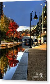 Fall Colors Along The Canal Acrylic Print