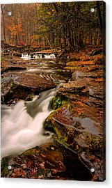 Fall Colors Around The Stream Acrylic Print