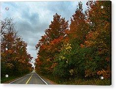 Fall Colors Dramatic Sky Acrylic Print