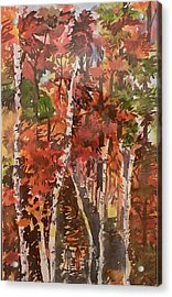Acrylic Print featuring the painting Fall Colors by Geeta Biswas