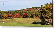 Fall Colors In Easthampton Acrylic Print
