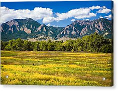 Fall Colors Of Boulder Colorado Acrylic Print
