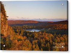 Fall Colors Orberg Mountain North Shore Minnesota Acrylic Print