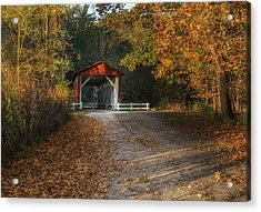 Acrylic Print featuring the photograph Fall Covered Bridge by Dale Kincaid
