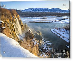 Fall Creek Winter Acrylic Print