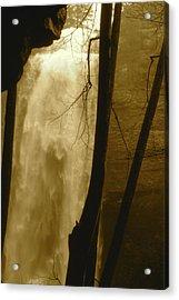 Fall Creel Falls In Sepia Acrylic Print