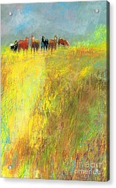 Acrylic Print featuring the painting Fall Day On The Mesa by Frances Marino
