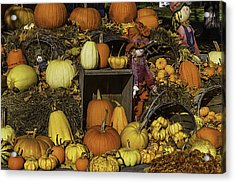 Fall Farm Stand Acrylic Print by Garry Gay