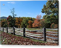 Fall Fence Acrylic Print by Eric Liller