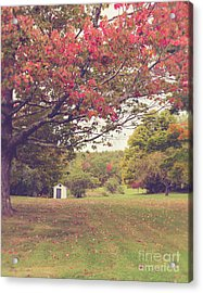 Fall Foliage And Old New England Shed Acrylic Print