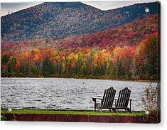 Fall Foliage At Noyes Pond Acrylic Print