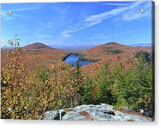 Fall Foliage At Owl's Head Groton State Forest Acrylic Print by John Burk