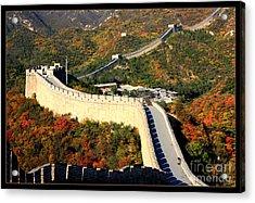 Fall Foliage At The Great Wall Acrylic Print by Carol Groenen