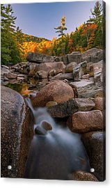 Acrylic Print featuring the photograph Fall Foliage In New Hampshire Swift River by Ranjay Mitra
