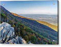 Acrylic Print featuring the photograph Fall Foliage In The Blue Ridge Mountains by Lori Coleman