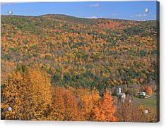 Fall Foliage On The Appalachian Trail Tyringham Cobble Acrylic Print by John Burk
